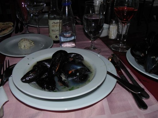 Restoran Porto: мидии в белом вине
