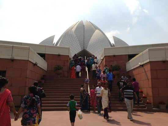 Bahai Lotus Temple: Main Entrance