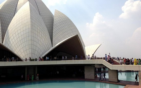 Bahai Lotus Temple: Surrounded by Lakes