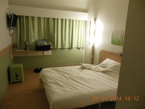 Ibis Budget Paris Porte de Pantin : Wasn't in often enough to open curtains!