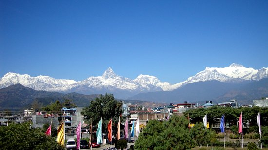 Pokhara Grande: view from room