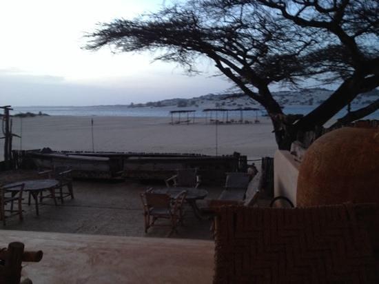 Diamond Beach Village: evening view of beach from blue moon bar