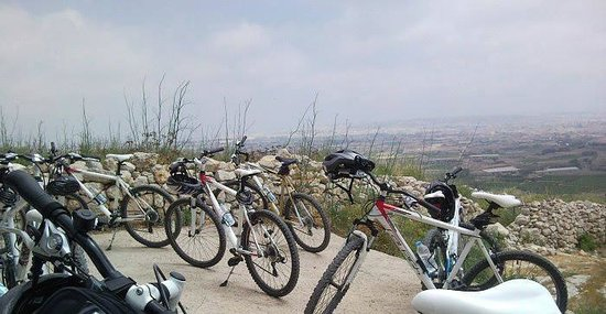 Zurrieq, Malta: Bikes on a trail brake