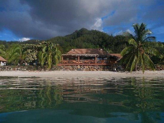 Hotel Fare Vaimoana: Hôtel vue de la mer