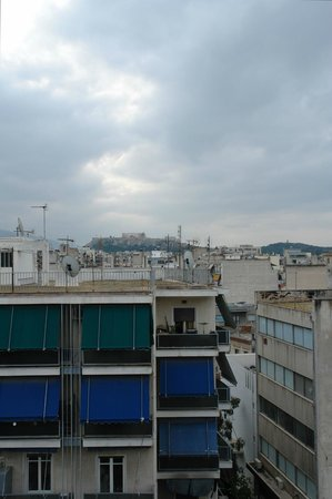 Apollo Hotel: Такой вид утром на Акрополь