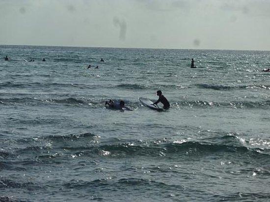 Kuhio Beach: 穏やかな波