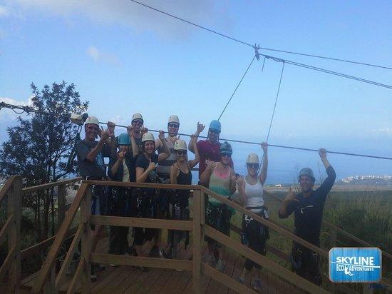 Skyline Eco-Adventures Zipline Tours: The Amazing Group! Minus Sebastian!