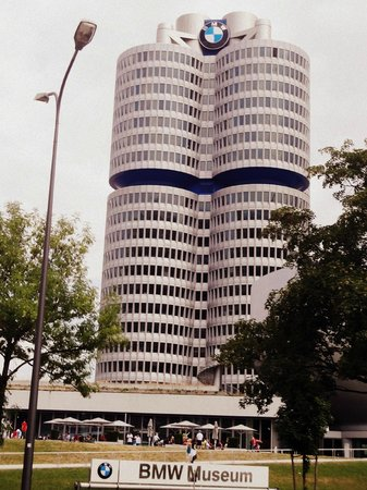 BMW Headquarters: Front view of BMW Museum