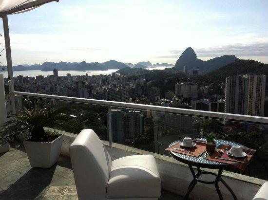 The Villa: Vue terrasse petit dejeuner