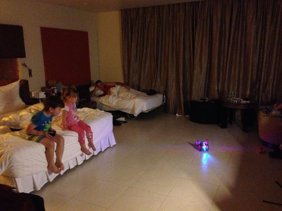 Millennium Resort Patong Phuket: A fold out bed for one of our kids & staff were fine with our little girl sleeping in the King b