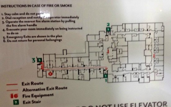 DoubleTree by Hilton Cape Town - Upper Eastside: Room 252 - floor plan loacation