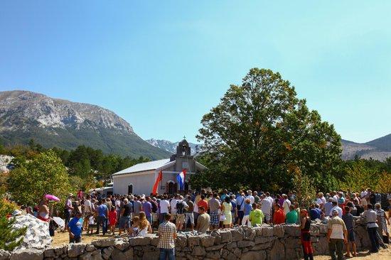 Starigrad-Paklenica, Croatia: THE FEAST OF THE ASSUMPTION, VELIKO RUJNO, VELEBIT MOUNTAIN