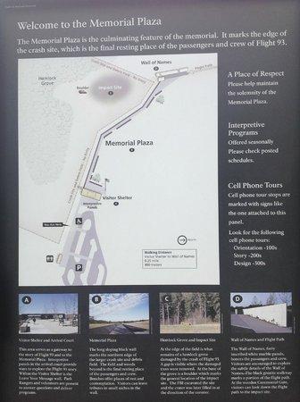 Flight 93 National Memorial: Information board