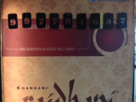 Rajdhani Thali : The number of plates Rajdhani has served to date