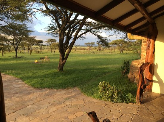 Mara Bush Houses, Asilia Africa: View from the front porch of the house overlooking the plains of the Mara