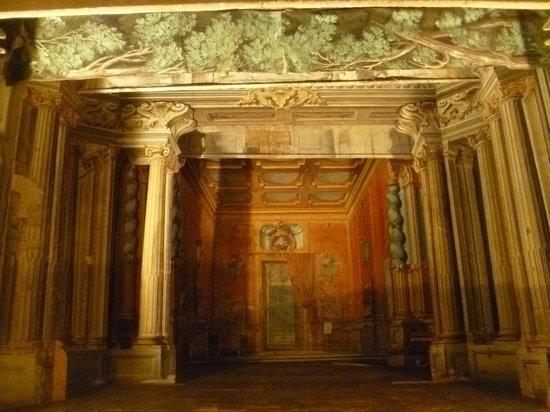 Castello di Meleto : castle theatre--still in use..very ornate