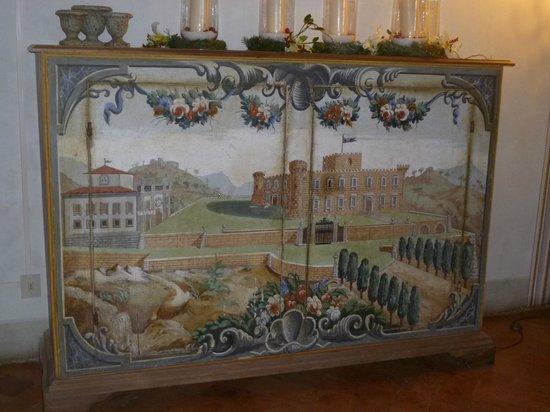 Castello di Meleto: painted furniture in the castle