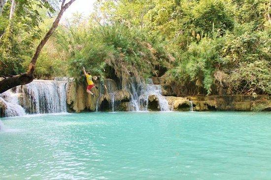 Kuang Si Falls: Swimming at Kuang Si