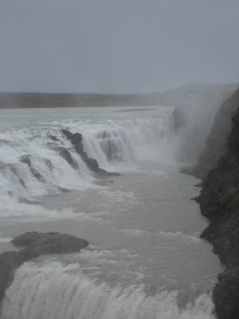 Gullfoss: Even in rain and windy weather it was beautifull