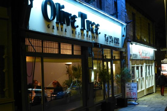 Olive Tree - Headingley: Main entrance, well lite