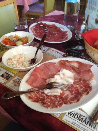 Al Maso Vecchio : Antipasto carne salada e salumi