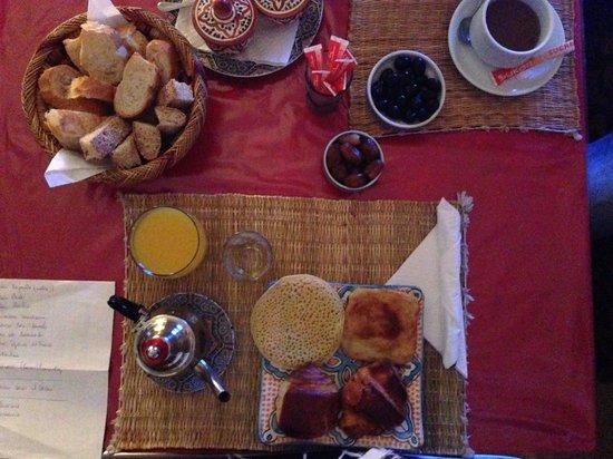 Riad Al Nour : Un aperçu du petit déjeuner, très complet !