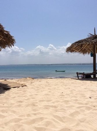 Bongoyo Island: view from the beach back over Dar