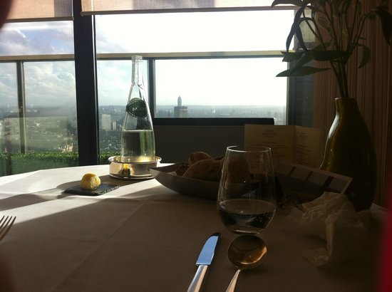 Galvin at Windows Restaurant : table and view at Galvin
