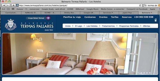 Balneario Termas Pallares - Hotel Parque: Lo que ofrecen en la página web Hotel El Parque