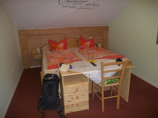 Wellness Pension Bergsee: top floor room for two