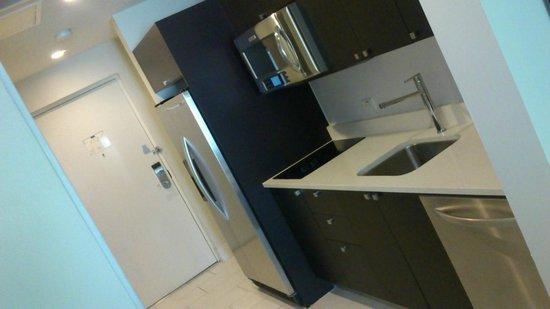 Provident Doral at The Blue Miami: kitchen in the corridor