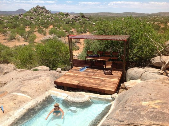 Grootberg Lodge : Rock pool and view