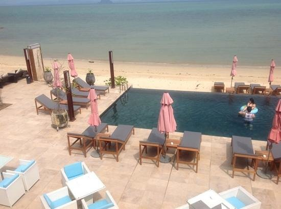 The Nchantra Pool Suite: the beach