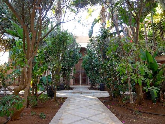 Riad des Golfs : patio d'entrée