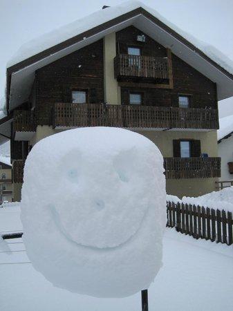 Hotel Valtellina: Selv sneen smiler