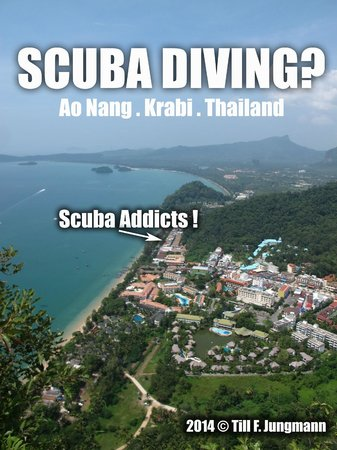 Scuba Addicts: sky view...dive centre location