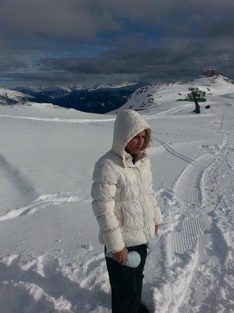 Flims Laax Falera Ski Resort: eu com calor, dá pra crer? acho que é a menopausa, rs