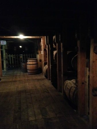 Maker's Mark: One of the 32 barrel sheds ~ the only one on site at the distillery.