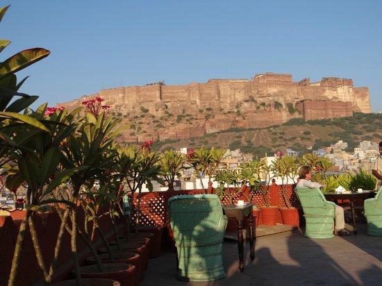 Haveli Inn Pal: Terrasse