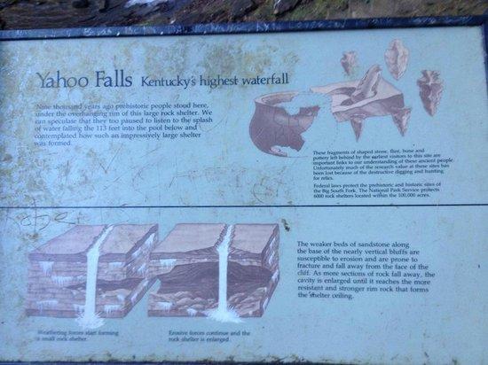 Yahoo Falls: Plenty of history here