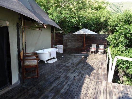 Nkomazi Game Reserve: tent 5 bij het water