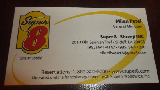 Super 8 Slidell: Carte d'affaire / Business card