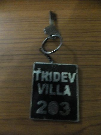 Hotel Tridev Villa : The room keys..the best of what they have