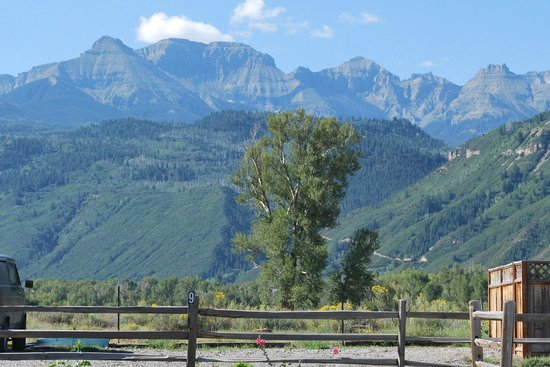 Ridgway, CO: View from campsite #9