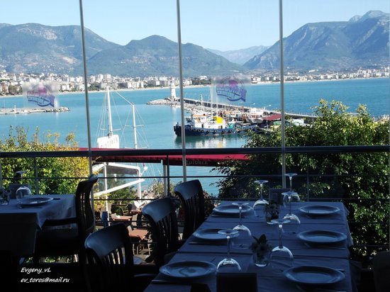 Red Tower Brewery Restaurant: Видна гавань с террассы