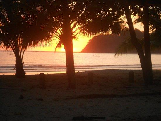"La Vela Latina: Sunset view from my table at ""Vela"""