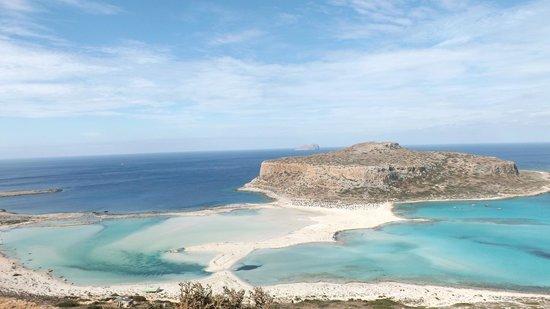 Balos Lagoon : la visuale dall'alto!!!