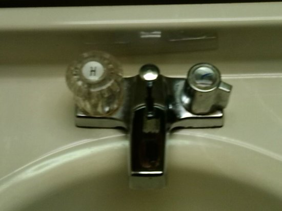 America's Best Value Inn: sink fixtures are both completely different