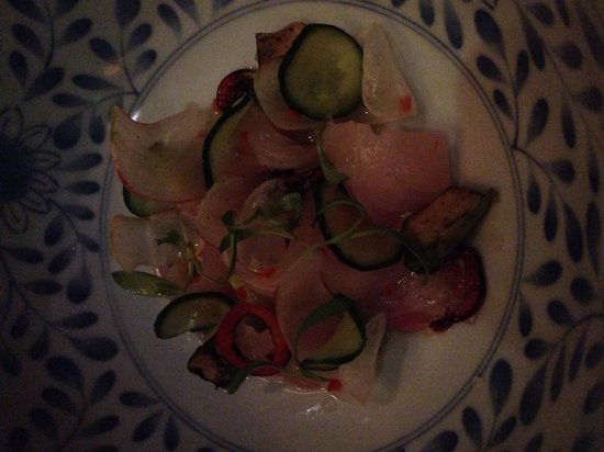 Ame : Ceviche...good but the cuttlefish is crazy good
