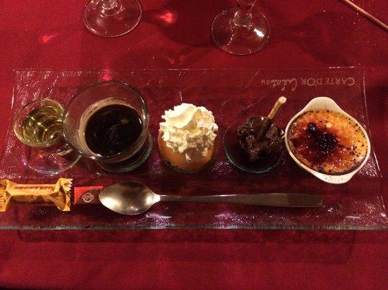 la Cremerie du Glacier: Café gourmand, 3 surprises et génépi